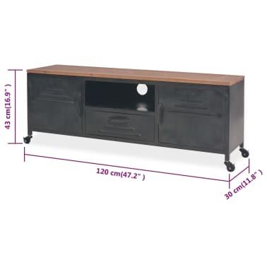 vidaXL TV omarica 120x30x43 cm črne barve[11/11]