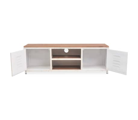 "vidaXL TV Cabinet 47.2""x11.8""x15.7"" White[4/10]"