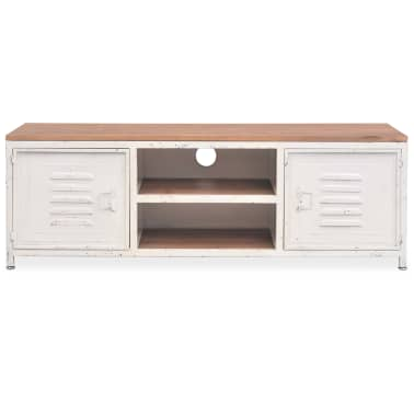 "vidaXL TV Cabinet 47.2""x11.8""x15.7"" White[3/10]"