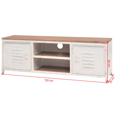 "vidaXL TV Cabinet 47.2""x11.8""x15.7"" White[10/10]"