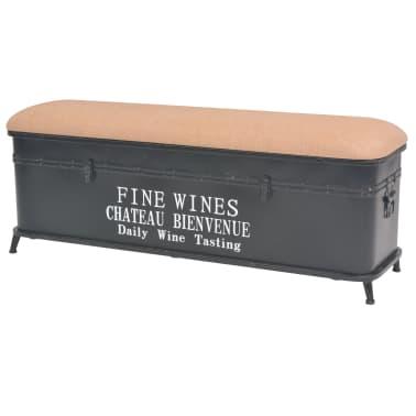 vidaXL Storage Bench with Cushion 103x30x40 cm[1/9]