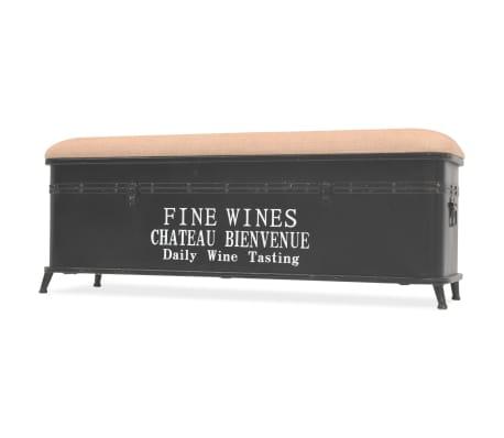 vidaXL Storage Bench with Cushion 103x30x40 cm[2/9]