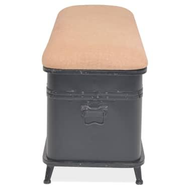 vidaXL Storage Bench with Cushion 103x30x40 cm[4/9]