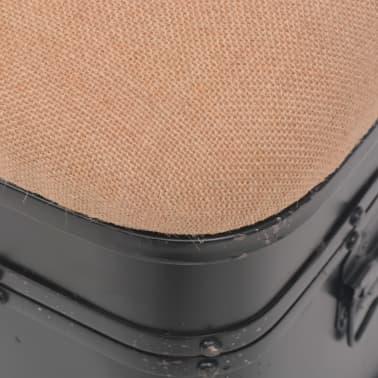 vidaXL Storage Bench with Cushion 103x30x40 cm[7/9]