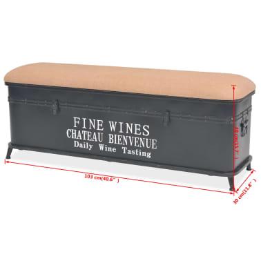 vidaXL Storage Bench with Cushion 103x30x40 cm[9/9]