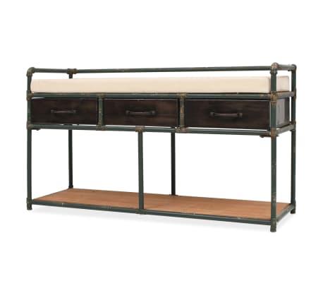 """vidaXL Storage Bench with Cushion 42.3""""x13.6""""x23.2""""[1/11]"""