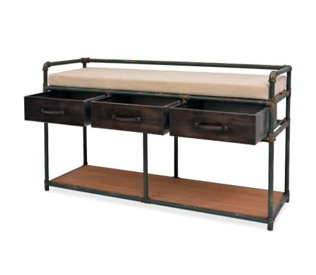 """vidaXL Storage Bench with Cushion 42.3""""x13.6""""x23.2""""[4/11]"""