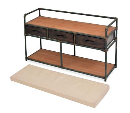 """vidaXL Storage Bench with Cushion 42.3""""x13.6""""x23.2""""[5/11]"""
