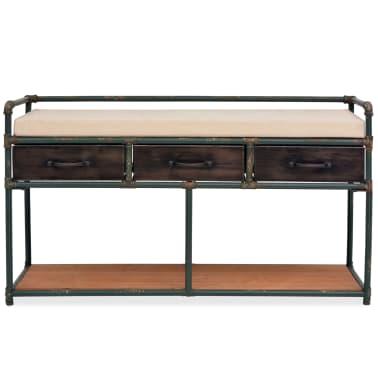 """vidaXL Storage Bench with Cushion 42.3""""x13.6""""x23.2""""[2/11]"""