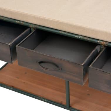 """vidaXL Storage Bench with Cushion 42.3""""x13.6""""x23.2""""[6/11]"""