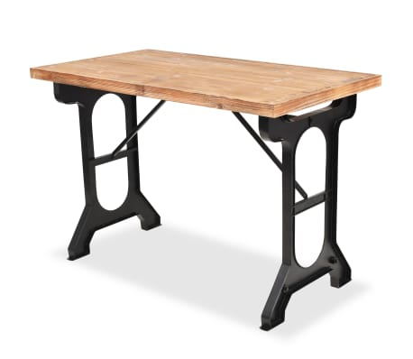 vidaXL Dining Table Solid Fir Wood Top 122x65x82 cm