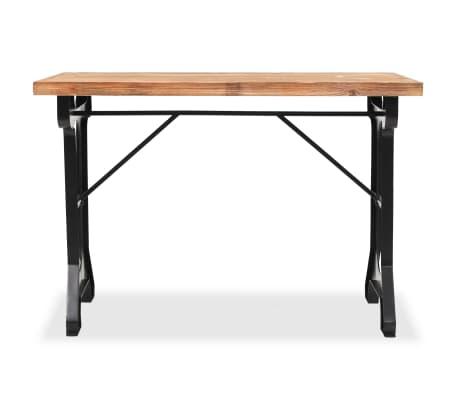 vidaXL Jídelní stůl, masivní jedlové dřevo, 122 x 65 x 82 cm[3/7]