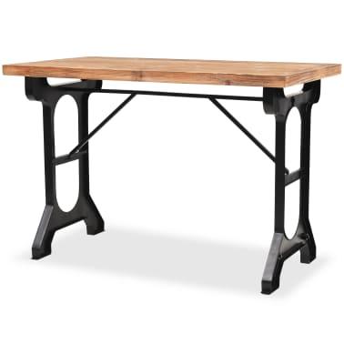 vidaXL Jídelní stůl, masivní jedlové dřevo, 122 x 65 x 82 cm[2/7]
