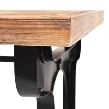 vidaXL Jídelní stůl, masivní jedlové dřevo, 122 x 65 x 82 cm[5/7]