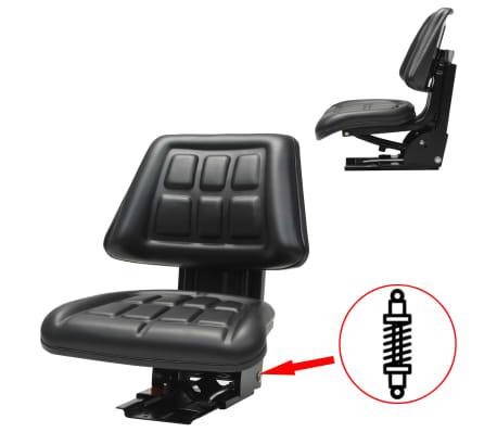 vidaXL Sedež za traktor z vzmetenjem črn[1/8]