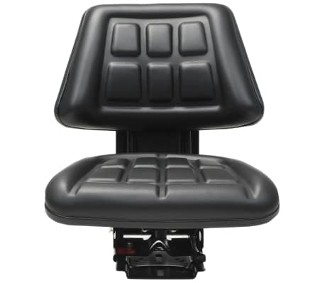 vidaXL Sedež za traktor z vzmetenjem črn[2/8]