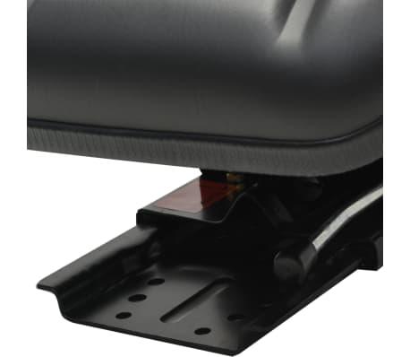 vidaXL Traktorsitz mit Federung Schwarz[3/8]