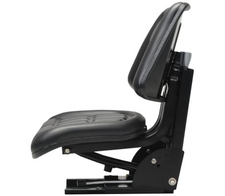 vidaXL Sedež za traktor z vzmetenjem črn[4/8]