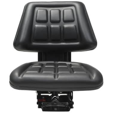 vidaXL Traktorsitz mit Federung Schwarz[2/8]