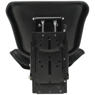 vidaXL Traktorsitz mit Federung Schwarz[6/8]