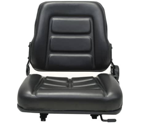 vidaXL Fotel do ciągnika/wózka widłowego z regulowanym oparciem,czarny[2/8]
