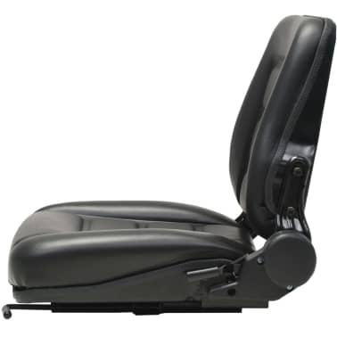 vidaXL Fotel do ciągnika/wózka widłowego z regulowanym oparciem,czarny[3/8]