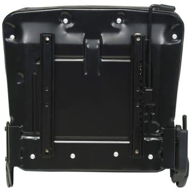 vidaXL Fotel do ciągnika/wózka widłowego z regulowanym oparciem,czarny[4/8]