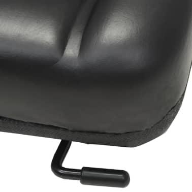 vidaXL Fotel do ciągnika/wózka widłowego z regulowanym oparciem,czarny[5/8]