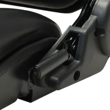 vidaXL Fotel do ciągnika/wózka widłowego z regulowanym oparciem,czarny[6/8]