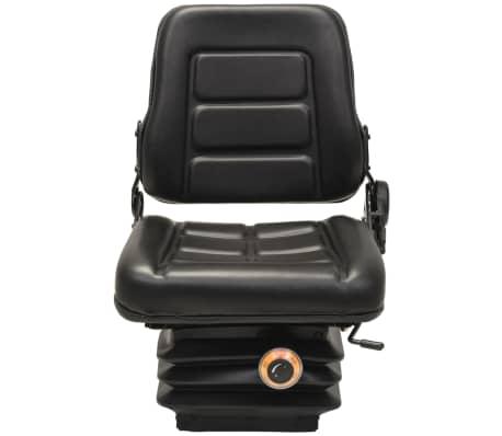vidaXL Sedež za viličar in traktor vzmetenje prilagodljivo naslonjalo[3/9]