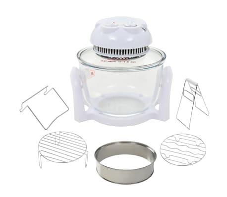 vidaXL Halogenowy piekarnik konwekcyjny z pierścieniem, 800 W, 10 L