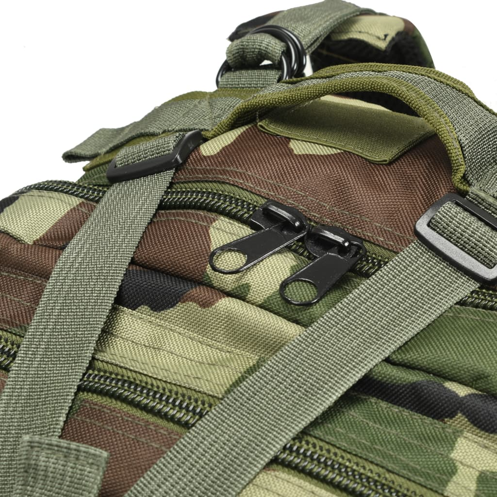 Nahrbtnik v vojaškem stilu 50 L maskirne barve