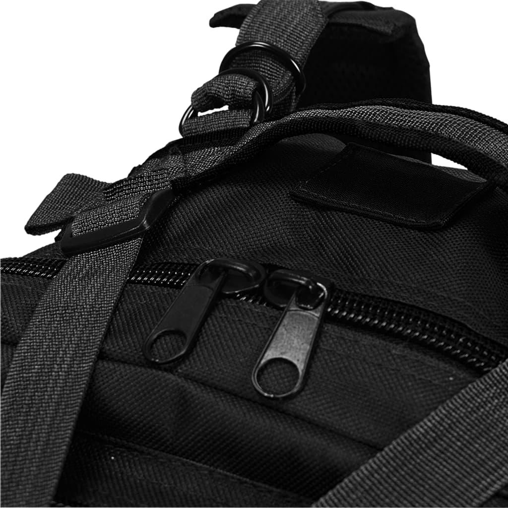 Nahrbtnik v vojaškem stilu 50 L črn