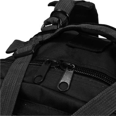vidaXL Militaristinio stiliaus kuprinė, 50 l, juoda[5/5]