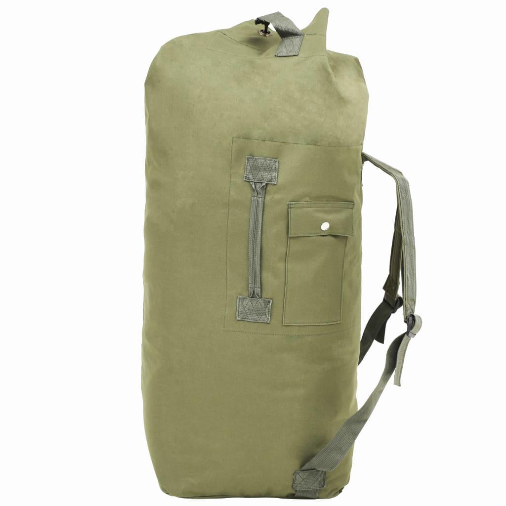 Sportovní taška v army stylu 85 l olivově zelená