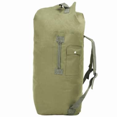 vidaXL Militaristinio stiliaus daiktų krepšys, 85l, alyv. žal. sp.[1/6]