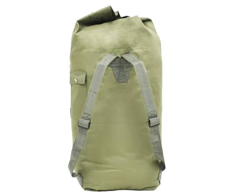 vidaXL Militaristinio stiliaus daiktų krepšys, 85l, alyv. žal. sp.[3/6]