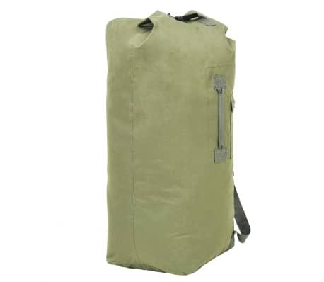 vidaXL Militaristinio stiliaus daiktų krepšys, 85l, alyv. žal. sp.[4/6]