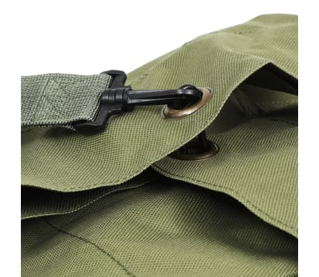 vidaXL Militaristinio stiliaus daiktų krepšys, 85l, alyv. žal. sp.[5/6]