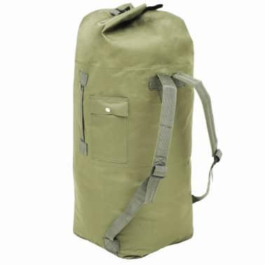 vidaXL Militaristinio stiliaus daiktų krepšys, 85l, alyv. žal. sp.[2/6]