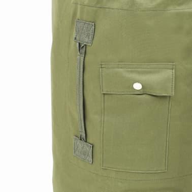 vidaXL Militaristinio stiliaus daiktų krepšys, 85l, alyv. žal. sp.[6/6]