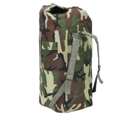 vidaXL Militaristinio stiliaus daiktų krepšys, 85l, kamufliažinis[2/6]