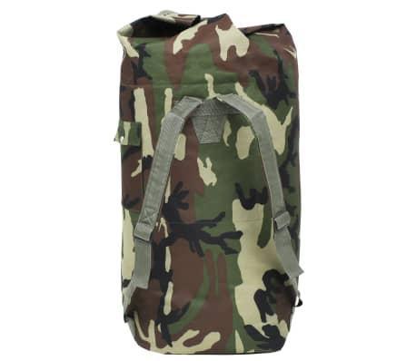 vidaXL Militaristinio stiliaus daiktų krepšys, 85l, kamufliažinis[3/6]