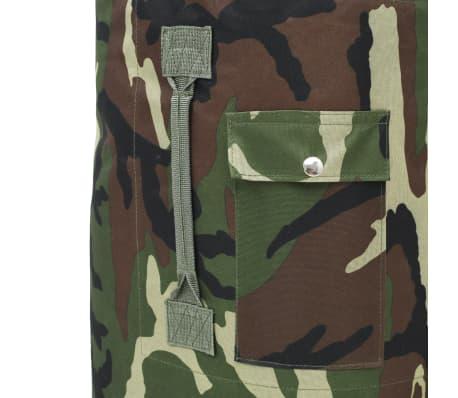 vidaXL Militaristinio stiliaus daiktų krepšys, 85l, kamufliažinis[6/6]