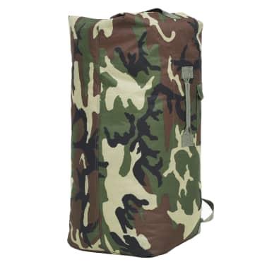 vidaXL Militaristinio stiliaus daiktų krepšys, 85l, kamufliažinis[4/6]