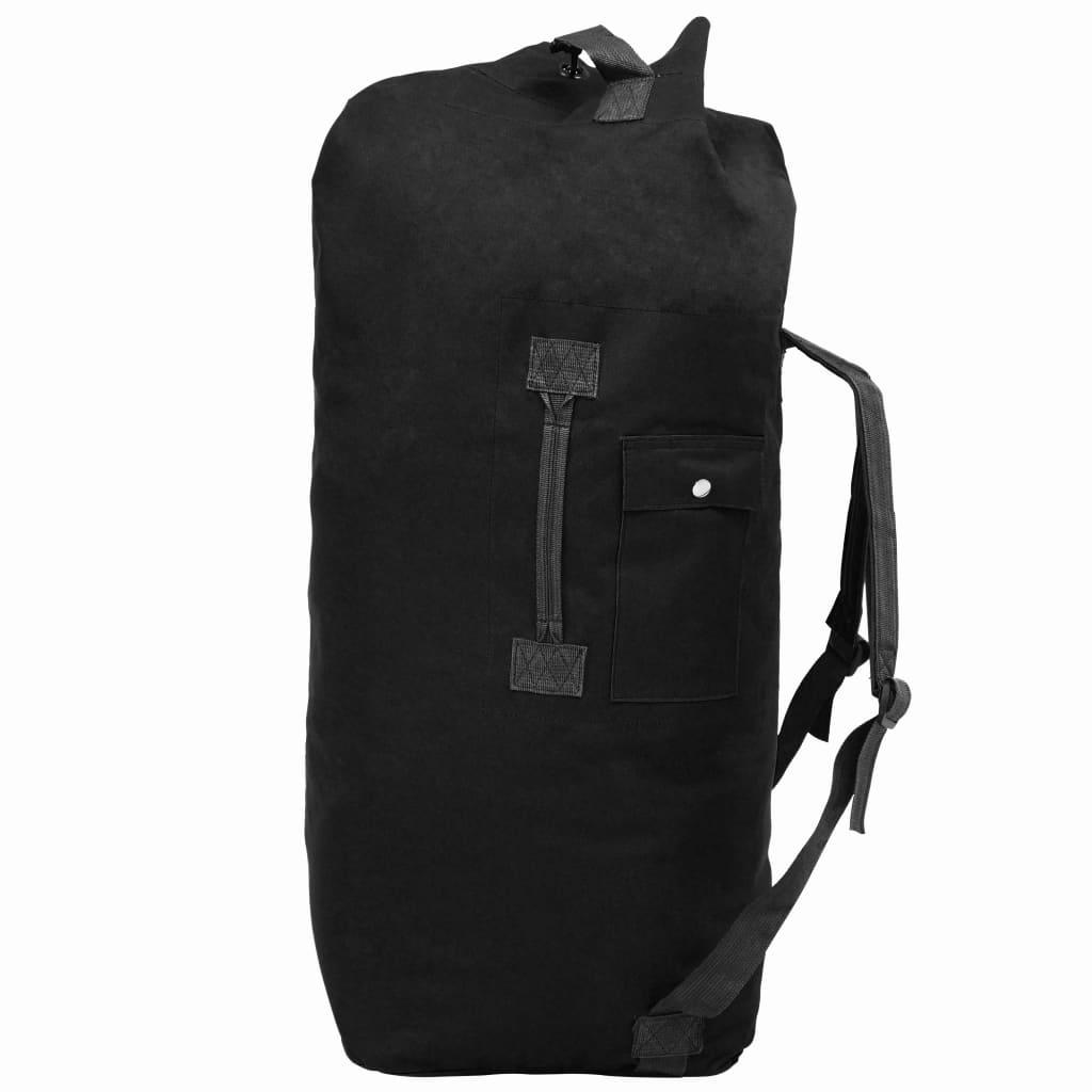 vidaXL Sportovní taška v army stylu 85 l černá