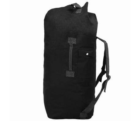 198829e970 vidaXL Cestovná taška vo vojenskom štýle 85 l čierna 1 6