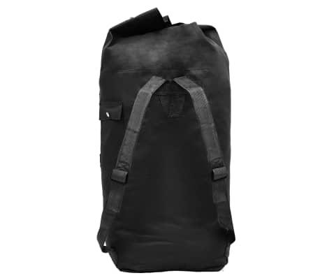 vidaXL Militaristinio stiliaus daiktų krepšys, 85l, juodas[3/6]