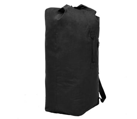 vidaXL Militaristinio stiliaus daiktų krepšys, 85l, juodas[4/6]