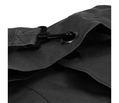 vidaXL Militaristinio stiliaus daiktų krepšys, 85l, juodas[5/6]